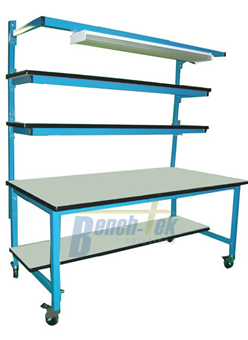 Double Riser Shelf Unistrut Channel Modular Workbench
